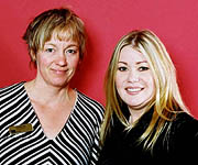 Jann Arden and Claudia Bos